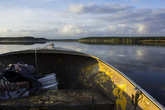 Boat Heading Across Lake Gregory Stock Images