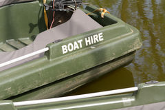 Boat for hire on river Stock Photo