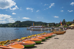 Boat hire in Titisee Neustadt Stock Photos