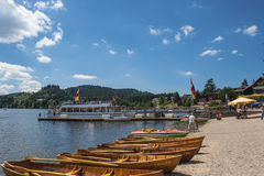Boat hire in Titisee Neustadt Royalty Free Stock Photos