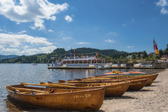 Boat hire in Titisee Neustadt Royalty Free Stock Image