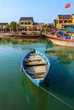 Boat on Hoai river Royalty Free Stock Photo