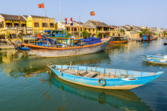 Boat on Hoai river Stock Photos
