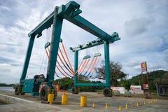 Boat hoist in Panama Royalty Free Stock Photography