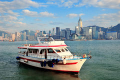 Boat and Hong Kong Stock Photo