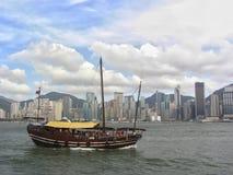 Hong Kong Harbor & boat Royalty Free Stock Images