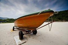 Boat on Hong Kong Sai Kung beautiful beach Royalty Free Stock Image