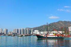 Boat in Hong Kong, Tuen Mun Stock Image