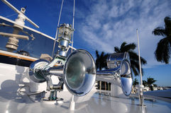 Boat horn and light Stock Photos
