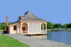 Boat House. Near the sound in the outerbanks of North Carolina Royalty Free Stock Photo