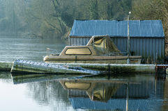 The boat house Royalty Free Stock Images