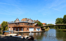 Boat house in Amiens 1 Royalty Free Stock Photo