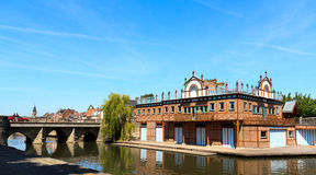 Boat house in Amiens 2 Royalty Free Stock Photography