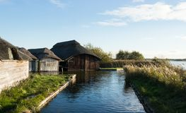 Boat House on Broads Royalty Free Stock Photos