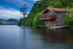 Boat House, Cottage, Waters, Lake Royalty Free Stock Image