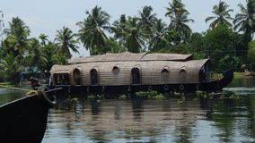 Boat House. A Boat House found in the back waters at Alleppy, Kerala, India Stock Images