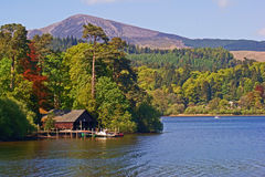 Boat House. On Island in lake near Keswick in the UK's Lake District Royalty Free Stock Photography
