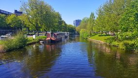 Boat House Leiden, Netherlands stock image