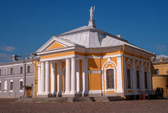 Boat house near the Cathedral of Peter and Paul in the Peter and Paul fortress. Stock Photography