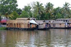 Boat House at Kerala Stock Photo