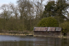 Boat house on the River Misbourne in the Chilterns Stock Image