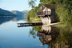 Boat House on Ullswater stock image