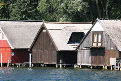 Boat houses Stock Images
