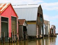 Boat Houses Royalty Free Stock Image