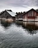 Boat houses Stock Photography