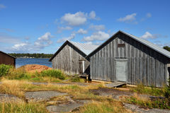 Boat houses. Finland Stock Image