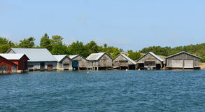 Boat houses. Finland Royalty Free Stock Photography