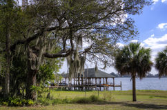 Boat houses, Florida Royalty Free Stock Images