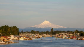 Boat Houses and Marina at Hayden Island Along Columbia River Stock Images
