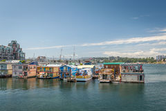 Boat houses in Vancouver island Royalty Free Stock Photo