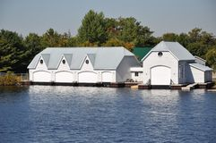 Boat houses Stock Photos