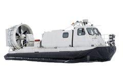 Boat hovercraft transport on white background isolated. stock photo