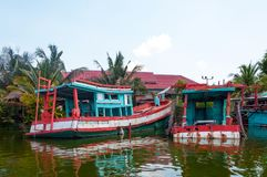 Boat in Hua Hin Floating Market in Hua Hin. Thailand. Royalty Free Stock Images