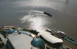Boat on Huangpu River Royalty Free Stock Image