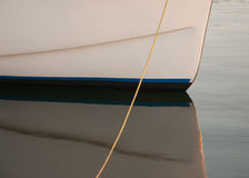 Boat hull and reflection Royalty Free Stock Images