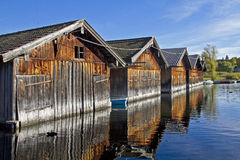 Boat huts Stock Photo