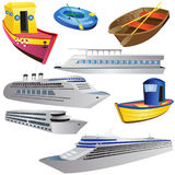 Boat Icon Set Royalty Free Stock Photo