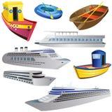 Boat Icon Set Royalty Free Stock Photo