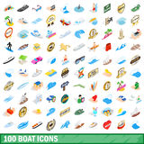 100 boat icons set, isometric 3d style. 100 boat icons set in isometric 3d style for any design vector illustration royalty free illustration