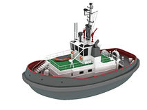 Boat illustration Royalty Free Stock Photo