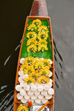 Boat In Floating Market Of Thailand Stock Photo