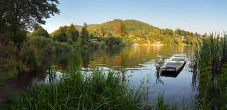 Boat In Nice Lake - Bansky Studenec Stock Photos