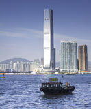Boat In Victoria Harbour, Hong Kong Stock Photography