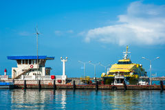 Boat inCommercial Sea Port of Sochi Stock Photography