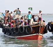 Boat with people Royalty Free Stock Photos