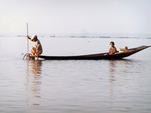 Boat on Inle Lake,Myanmar Royalty Free Stock Photography